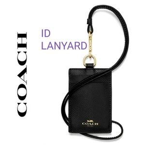🆕️ 💯 Authentic Coach ID LANYARD in Black F57311